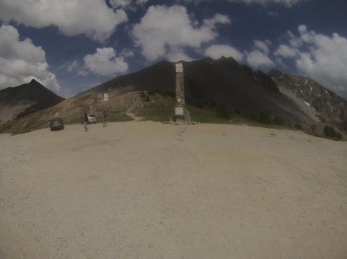 Memorial at the top of Col d'Izoard