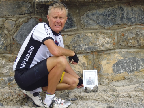 A personal moment for Garry where he leaves a photo of his brother who recently deceased – Garry first climbed this Col in 2000.