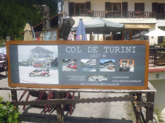 Great coffee at the top Col de Turini