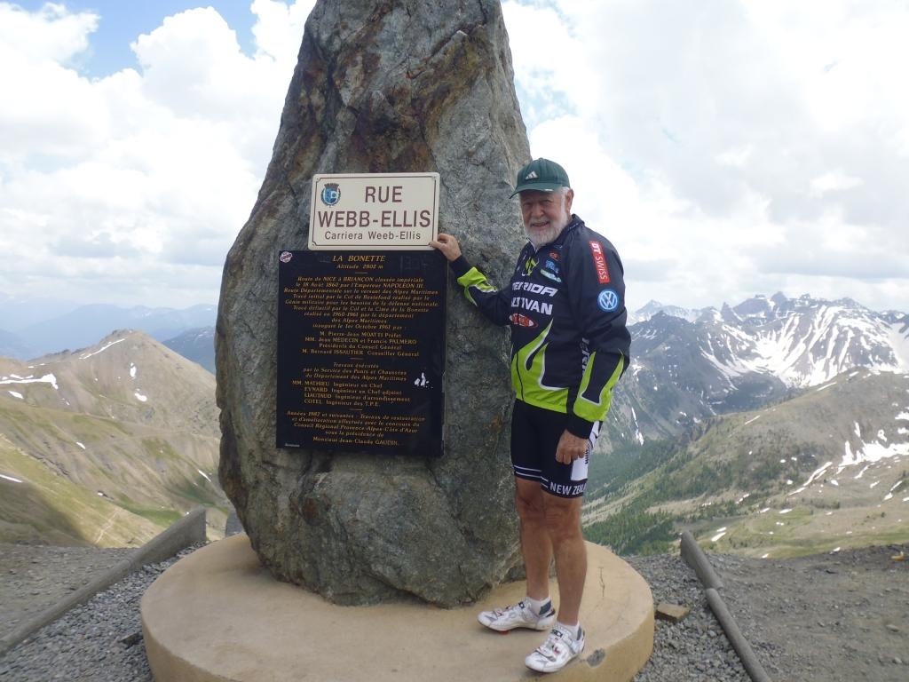 This spot marks Col de La Bonnette