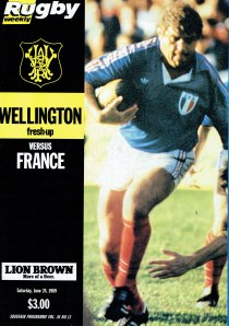 1989 France vs Wellington Program
