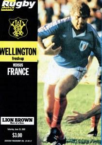 1989 France vs Wellington Program