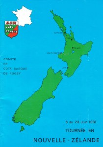 Tour booklet - 1981 Cote Basque rugby team toured of NZ